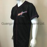 [هيغقوليتي] قطع يخيط يطرق سوداء بايسبول قميص