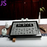 경도와 Durable Granite Stone Make Slate Beautiful Stone Tea Tray
