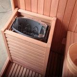 Un sauna intérieur boisée de cèdre canadien Chambre avec 8 mm de verre trempé M-6030