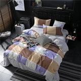 新しいデザイン安い卸売価格はMicrofiberの羽毛布団カバーセットを印刷した