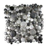 ¡2017 nuevo! Mosaico redondo del metal del acero inoxidable del grano