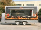 De sterke Aanhangwagen van het Roomijs van de Vorm van het Staal Mobile Food Van