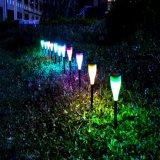 7 cambios de color de la Energía Solar Iluminación para jardín de césped decorativo