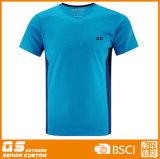 Les sports des hommes exécutant le T-shirt à séchage rapide de Wicking