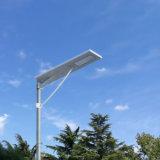 50W 60W 80W Bridgelux는 1개의 태양 LED 가로등 가격에서 방수 IP65 옥외 통합 운동 측정기를 전부 잘게 썬다