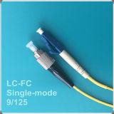 Cuerda de remiendo óptica unimodal de fibra de la PC de FC-LC