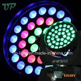 4en1 Zoom lavage aura dirigé tête mobile 36pcs 12W RGBW lumière
