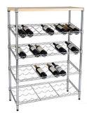 Новый дизайн напольных коммерческих вино металлические дисплей для установки в стойку