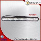 barre d'éclairage LED de rangée de sigle de 30inch 150W pour 4X4