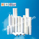 Filtro de alta temperatura do purificador da água da corda da fibra de vidro