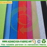 Tela no tejida hidrofílica colorida de los PP Spunbond en Rolls para el pañal