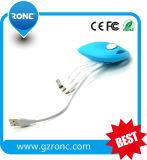 Cable de datos USB de carga rápida de forma de cangrejo para teléfono móvil