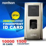 IP65 invólucro metálico de Controle de Acesso biométrico de impressões digitais ao ar livre