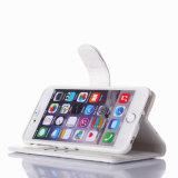 iPhone 8을%s 최신 돋을새김된 백색 PU 가죽 이동 전화 상자
