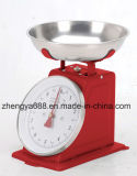 Mecánica De acero inoxidable Báscula de cocina cocina antigua escala de alimentos