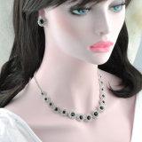 De in het groot Elegante Zilveren Reeksen van de Juwelen van het Huwelijk van het Kristal van de Kleur Bruids