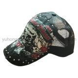 A forma ostenta o boné de beisebol, chapéu do Snapback