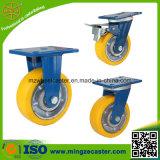 Örtlich festgelegtes Fußrollen-Eisen-Kern PU-Fußrollen-Rad