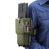 12 antenas todo-en-uno Jammer Teléfono móvil de bolsillo con Lojack WiFi GPS 315/433/868 (control remoto).