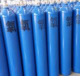 Bottiglia di ossigeno ad alta pressione del cilindro di ossigeno dell'acciaio senza giunte