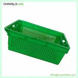 Y apilables encajables ventila la caja de verduras frutas de plástico