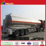 Aço inoxidável 36000-50000 litros de óleo bruto do reboque-cisterna de combustível