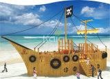Patio al aire libre del barco de madera del área de Playging de los niños de Kaiqi (KQ60081A)