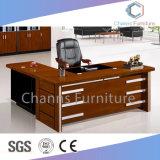 Moderner Großhandelslack-hölzerner Manager-Schreibtisch mit beweglichem Tisch (CAS-SW1718)