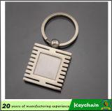 Grabado láser personalizados Llavero de metal blanco