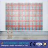 Tarjeta acústica natural de la pared de las lanas de madera de los finales