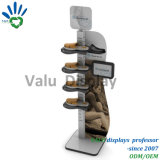 Modernes Sport-Schuh-Metallhölzerne Bildschirmanzeige-Zahnstange/Standplatz für Schuh-Speicher