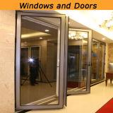 Doppio portello di alluminio di vetro personalizzato con il prezzo favorevole