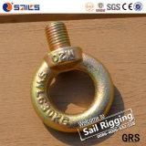 Boulon à oeil forgée en acier galvanisé JIS B1168 Boulon à oeil