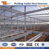 Edificio prefabricado del almacén del metal de la estructura de acero