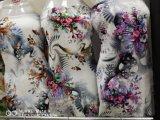 Tessuto viscoso della stampa della cifra del fiore del vestito da modo del rayon