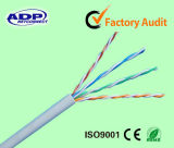 Cobre de alta velocidad del cable de LAN de UTP Cat5e 4pr 24AWG 0.5m m o cable sólido los 305m de la red del CCA