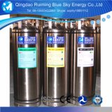 En el cilindro de nitrógeno líquido criogénico de argón de oxígeno GNL de CO2 N2O.