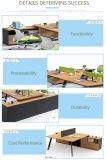 A tabela a mais atrasada da mobília de escritório da equipe de funcionários projeta a tabela de madeira do escritório