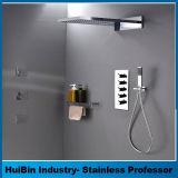 """Ollieroo Badezimmer-Luxuxregen-Mischer-Dusche-kombiniertes Set-an der Wand befestigtes Niederschlag-Dusche-Kopf-System mit """" Polierchrom neues Verson des Verbinder-G1/2"""