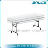 6ft Molded Registrabile-Height Plastic Top Foldable Table