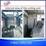 Da perfuração de aço Shaped do furo da estaca do feixe do plasma H I U do CNC máquina de chanfradura lidando