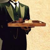 Het houten Dienende Dienblad van het Voedsel van het Dienblad met Handvat