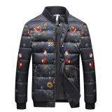 Os homens de moda' S impresso casaco de Inverno Casaco Down-Filled jaqueta de ganso