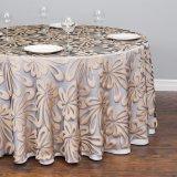 Dekking de van uitstekende kwaliteit van de Lijst van het Tafelkleed van het Satijn van de Polyester op Bevordering (JRD645)