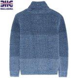 100% algodão Cor Denim Biocolor Striped Gola Xale Camisola de Inverno do bebê projeta Kid camisolas para criança