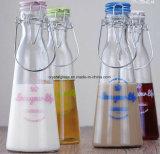 500 ml de suco de vidro vaso potável com tampa de freio de cerâmica de cor