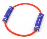 Estirar impresos personalizados Home equipamiento de gimnasio al aire libre la resistencia de bucle de tubo de goma de la banda de correas de tobillo