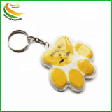 Indicatore luminoso su ordinazione del PVC LED Keychain di alta qualità per il regalo di promozione