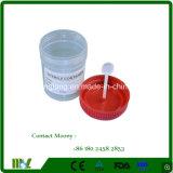 Modelo de plástico Medsinglong Recipiente de fezes 30ml, 40ml, 60ml, 120ml de urina descartáveis em contentores/Modelo Cup Msll010