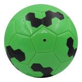 Couleur vert brillant cousu de football de la machine de taille 5